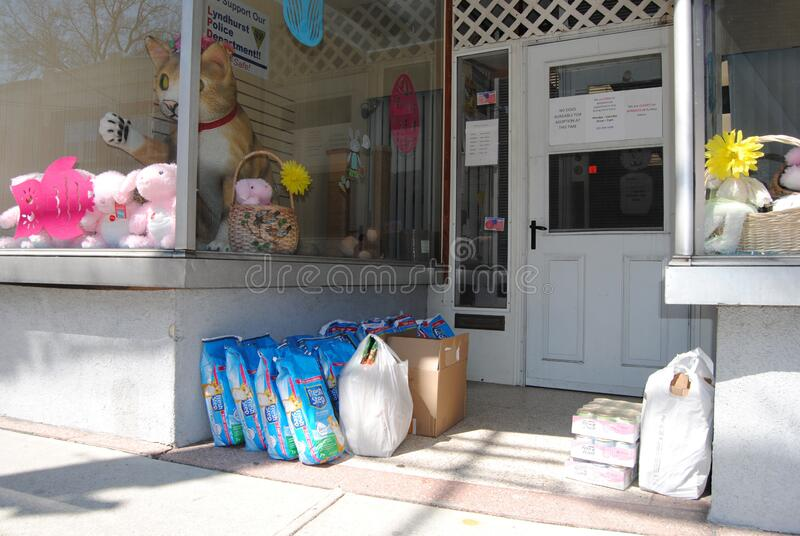Pet Food and Supplies, Donation To An Animal Shelter, Lyndhurst, NJ, USA royalty free stock photography