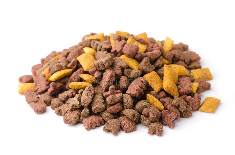 Pet food. On a white background stock images