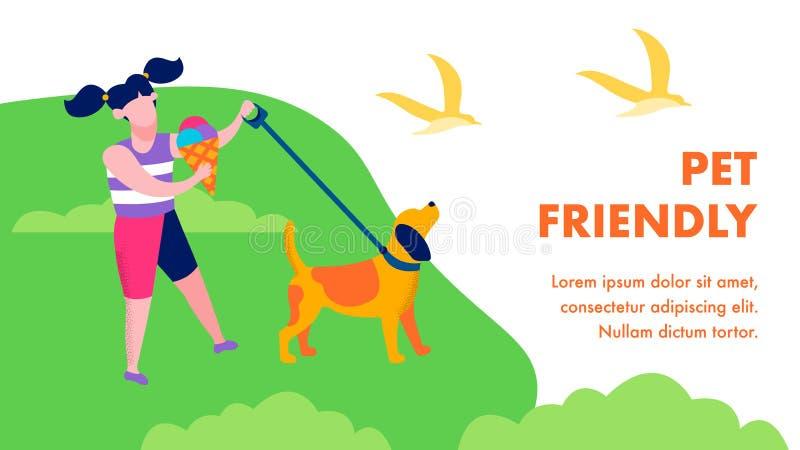 Pet Friendly Landing Page в плоском природном стиле бесплатная иллюстрация