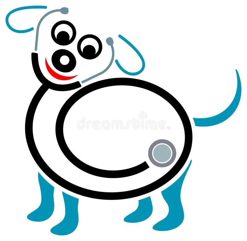 Pet health centre. Isolated line art emblem stock illustration