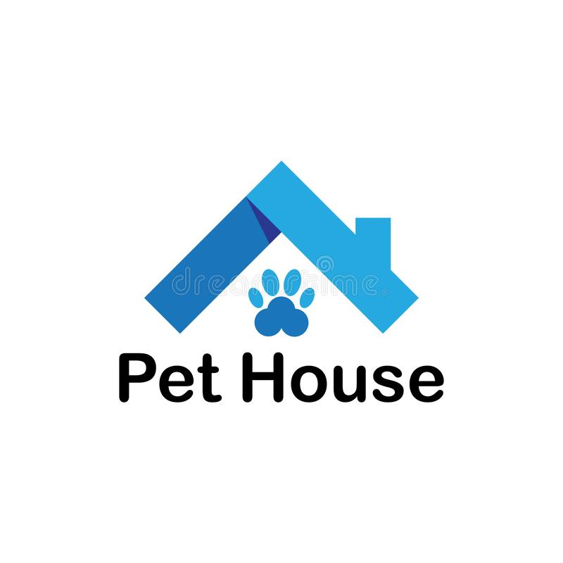 Pet house business logo stock illustration