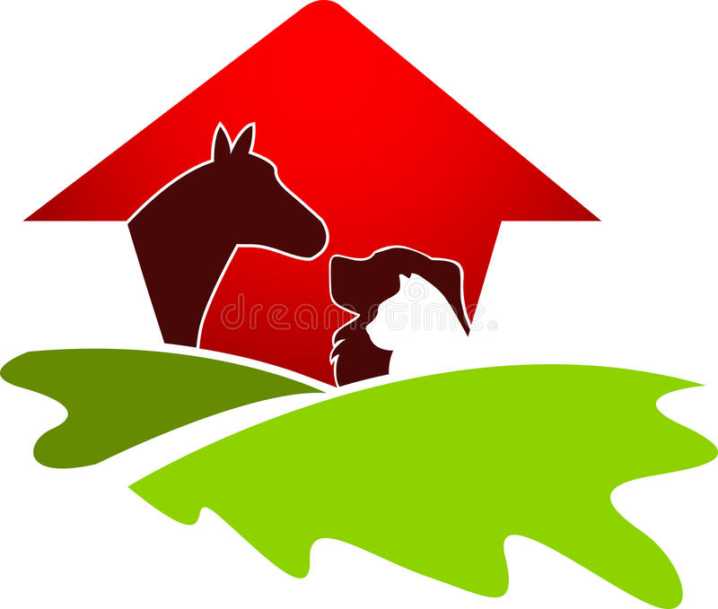 Pet house logo. Illustration art of a pet house logo with isolated background
