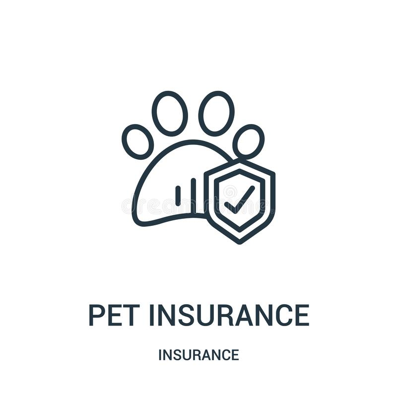 pet insurance icon vector from insurance collection. Thin line pet insurance outline icon vector illustration. Linear symbol vector illustration