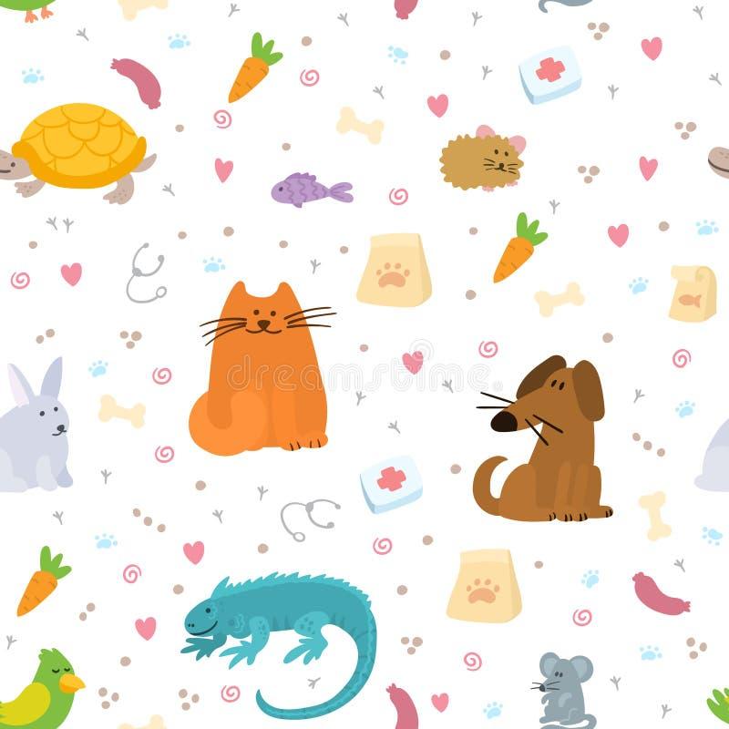 Pet insurance Shield with doodle pets inside Pet care illustration libre de droits