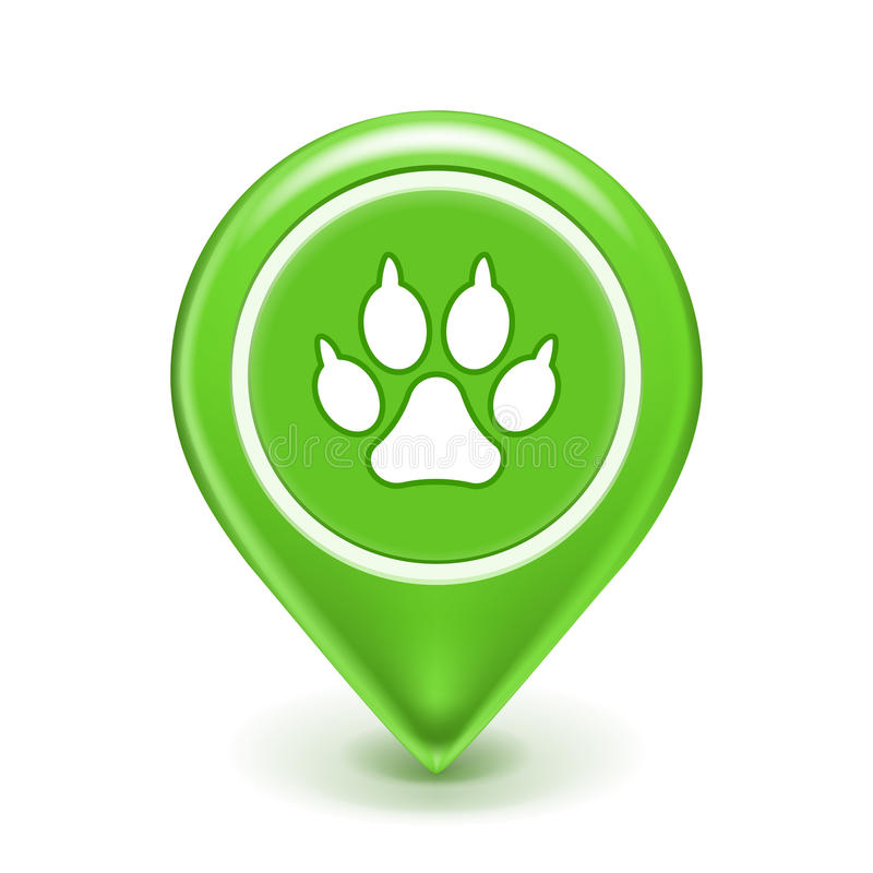 Pet Location Icon Royalty Free Stock Photos