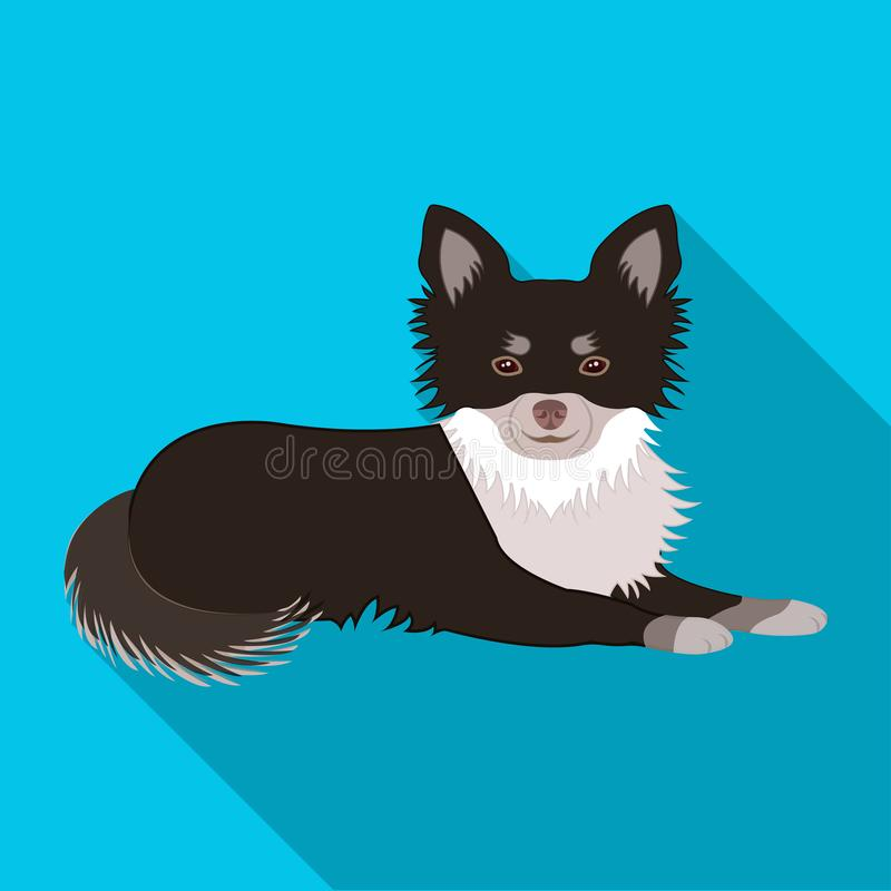 A pet, a lying dog. Pet ,dog care single icon in flat style vector symbol stock illustration web. A pet, a lying dog. Pet,dog care single icon in flat style vector illustration