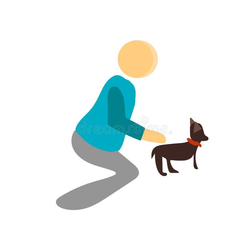 Pet o sinal e o símbolo do vetor do ícone isolados no fundo branco, conceito do logotipo do animal de estimação ilustração royalty free