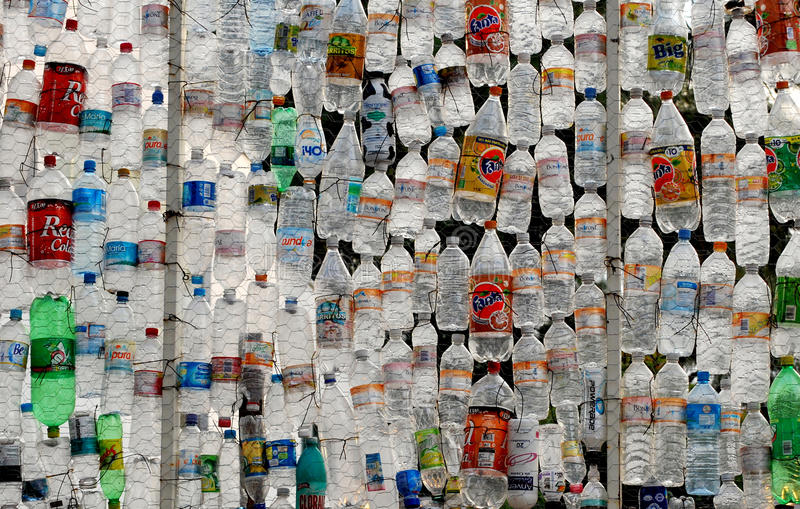 Download PET (polyethylene) WALL editorial stock image. Image of recycle - 18254769