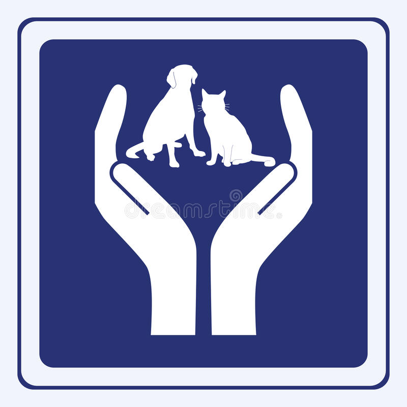 Pet protection royalty free illustration