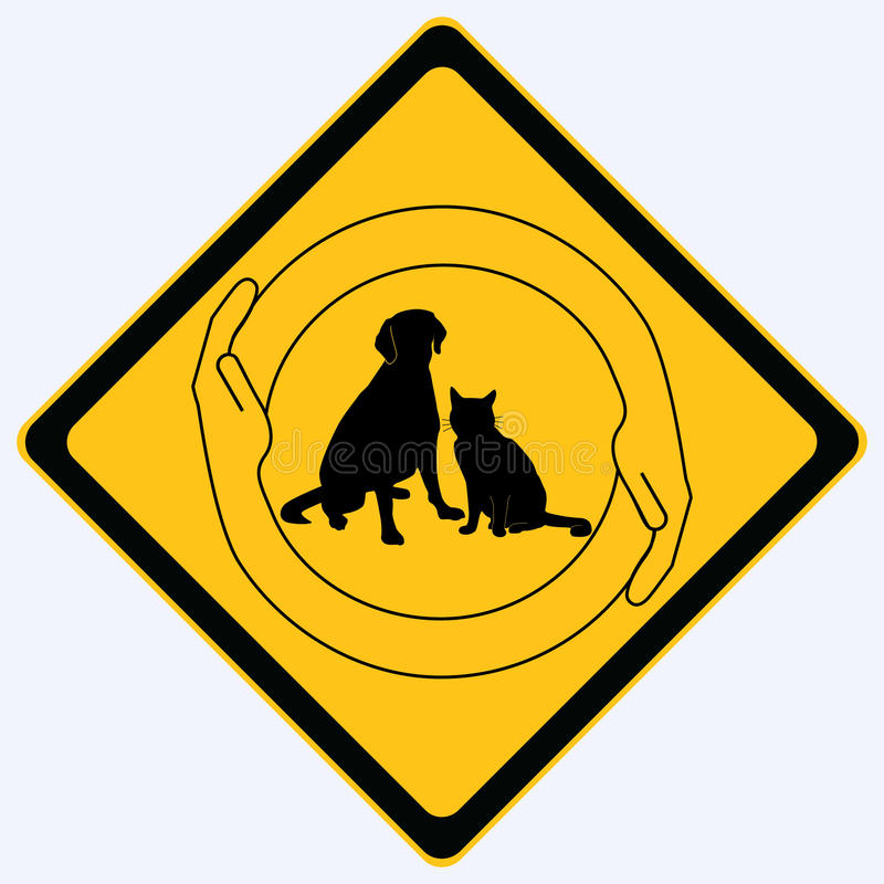 Pet protection sign vector illustration