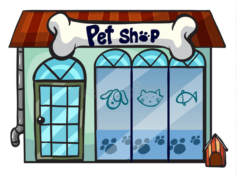 Download A pet shop stock illustration. Image of roof, retail - 28071571