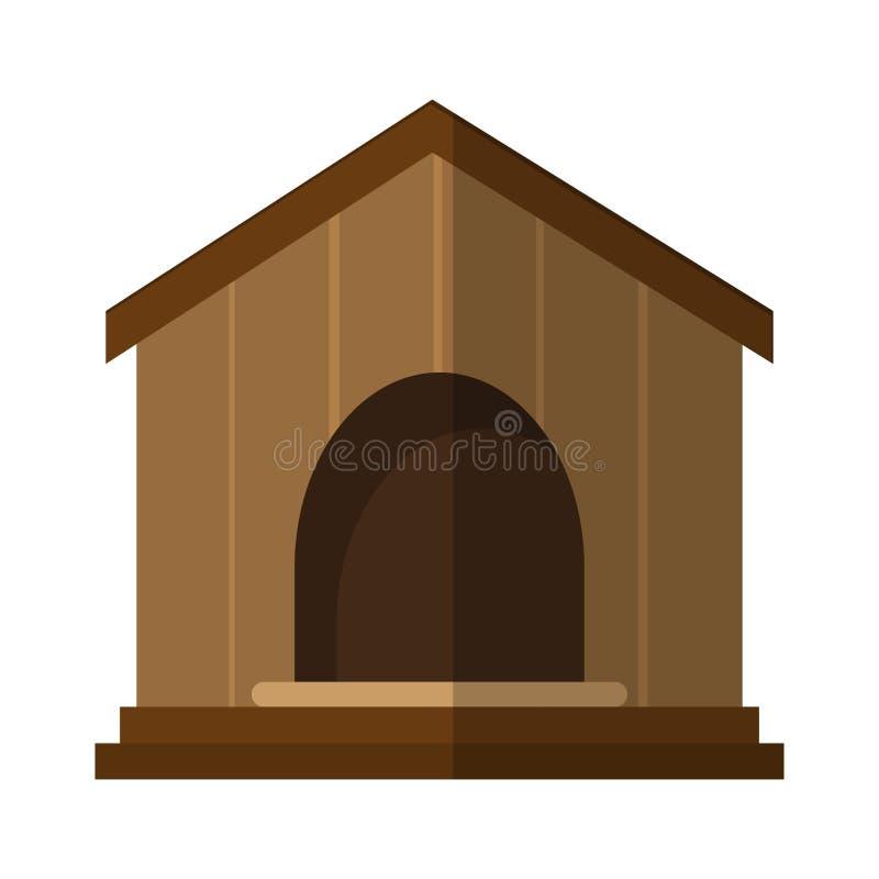 Pet shop design. Dog house icon over white background. colorful design. pet shop concept. vector illustration royalty free illustration