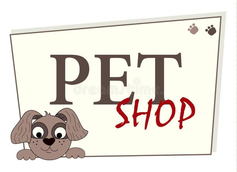 Pet shop logo design, animals care symbol, sign. Cartoon dog illustration. Pet shop logo design, animals care symbol, sign. Cartoon style dog illustration vector illustration
