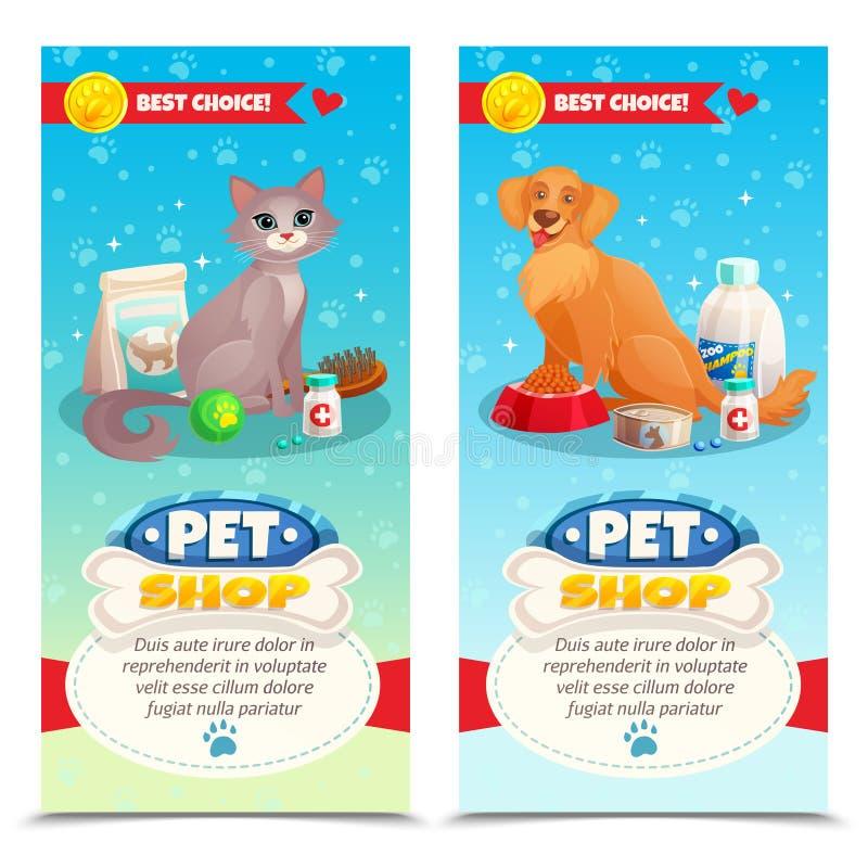 Pet Shop Vertical Banners stock illustration