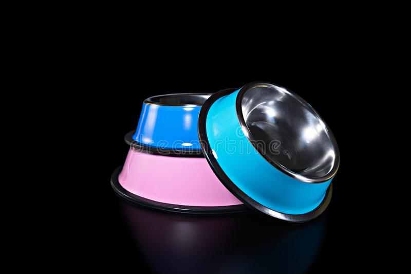 Pet supplies about bowl for food. royalty free stock images