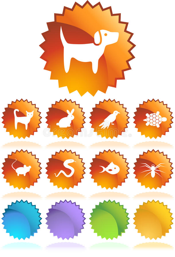 Pet web buttons - Seal royalty free illustration