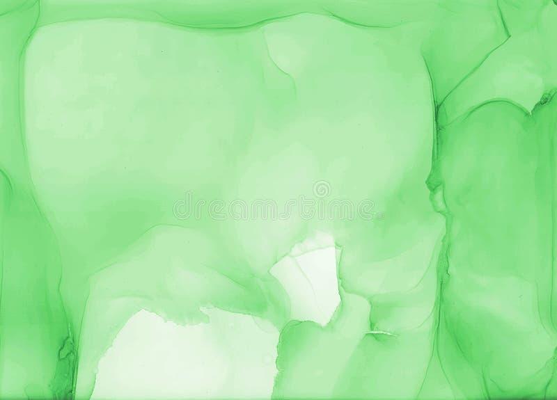 Petal de acuarela abstracto verde como fondo foto de archivo libre de regalías