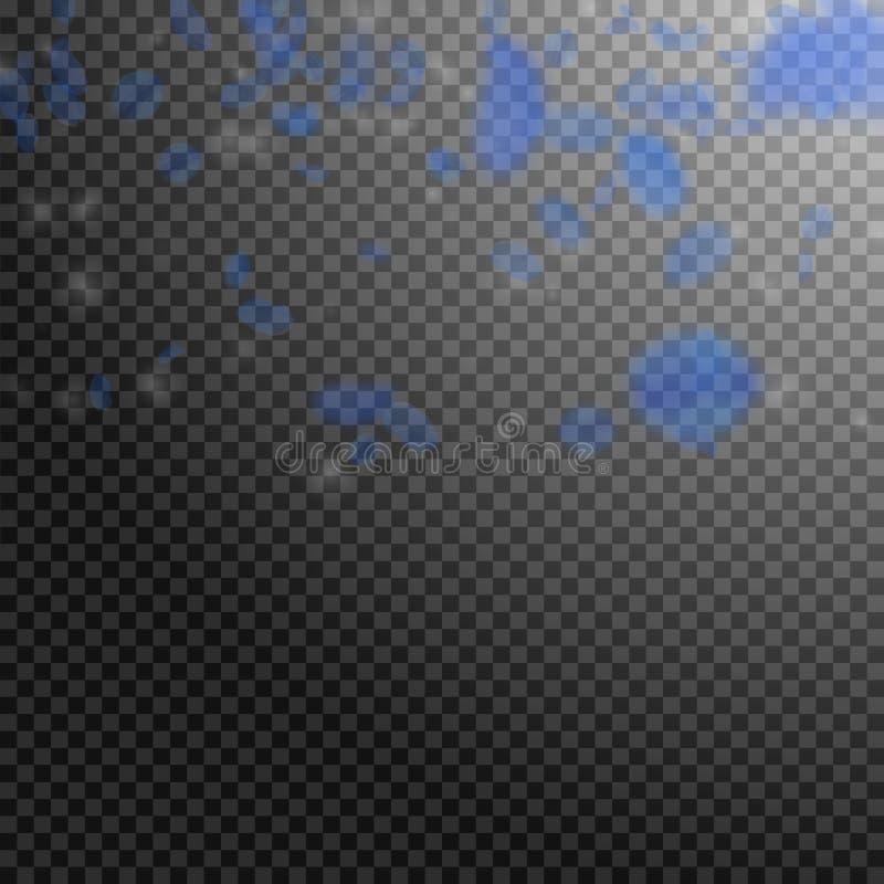Petali blu scuro del fiore che cadono R notevole illustrazione di stock