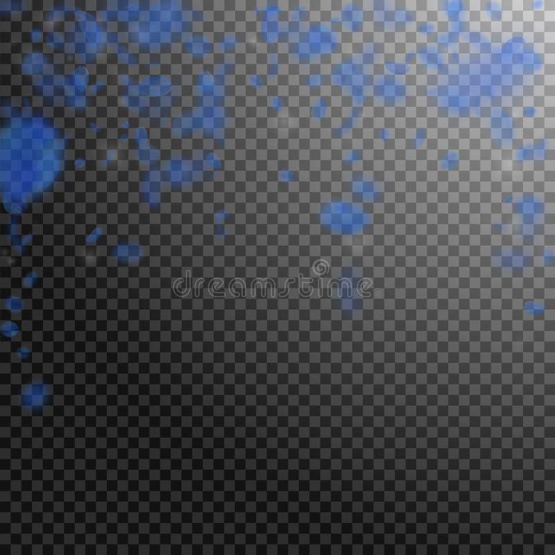 Petali blu scuro del fiore che cadono Roma insolita royalty illustrazione gratis