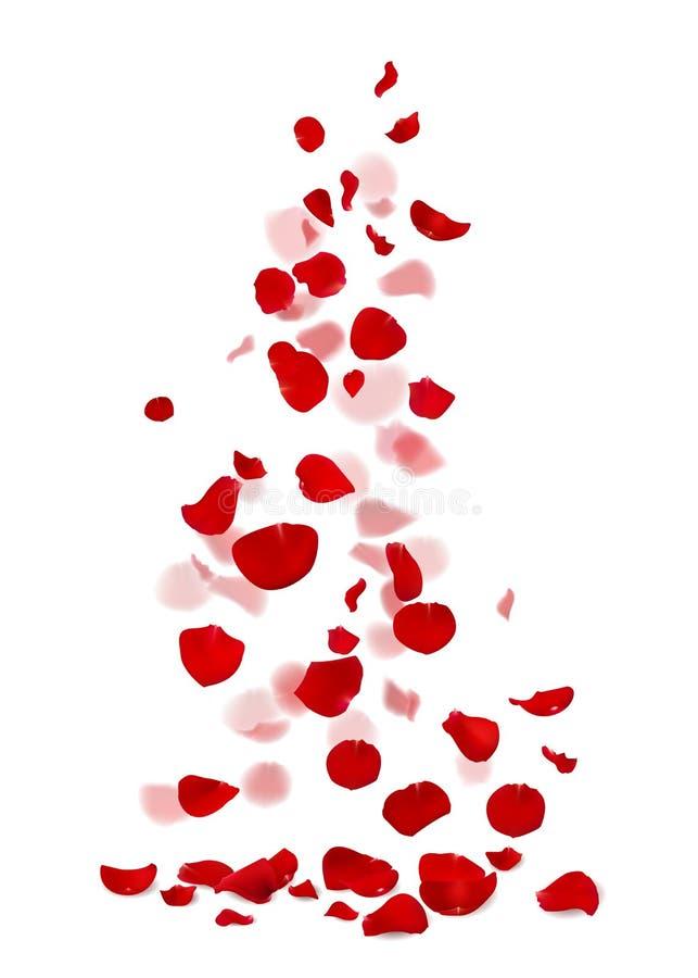 Petali rosa rossi e rosa che cadono royalty illustrazione gratis
