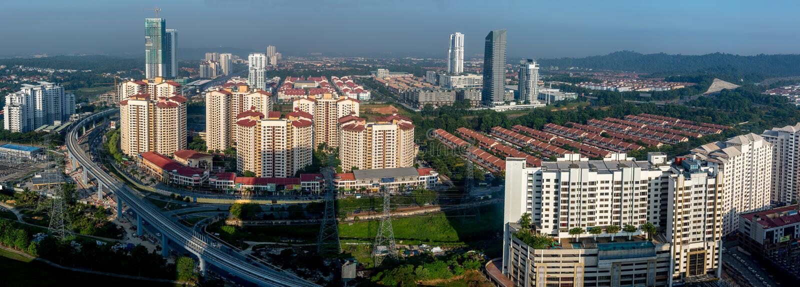 Petaling Jaya w Malezja obraz royalty free