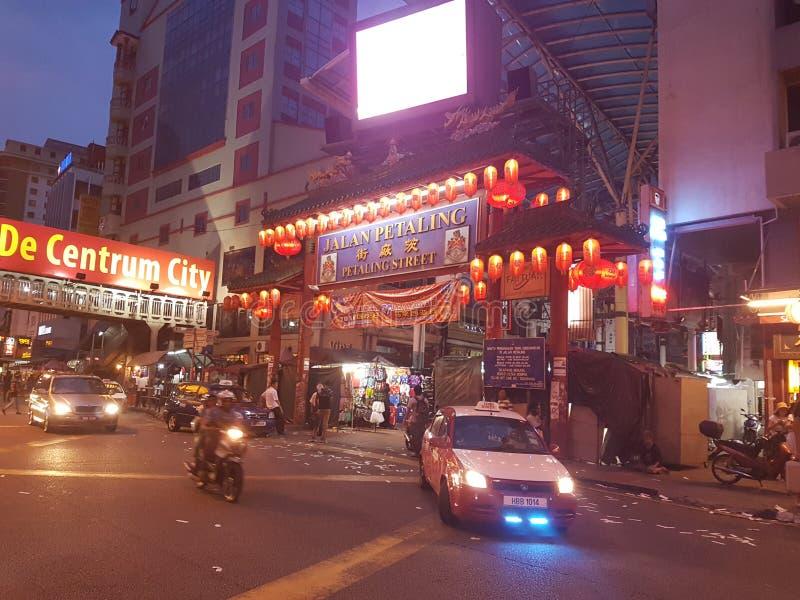 Petaling Street Kuala Lumpur Night Market stock images