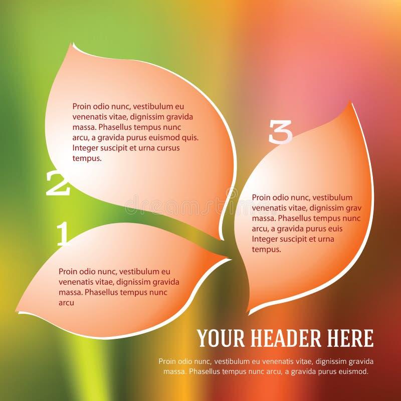 Petals_leaf_bubbles_template_brochure_woman stock illustratie
