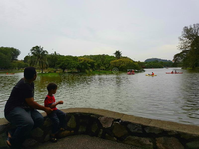 Petang de Mendung fotografía de archivo libre de regalías