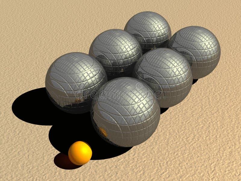petanque игры шариков иллюстрация штока