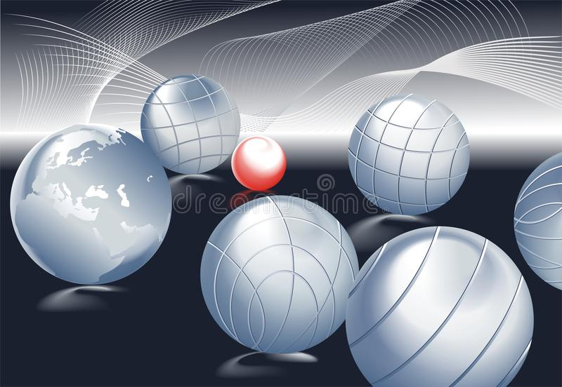 Download Petanque stock vector. Image of bawl, sphere, abstract - 19074914