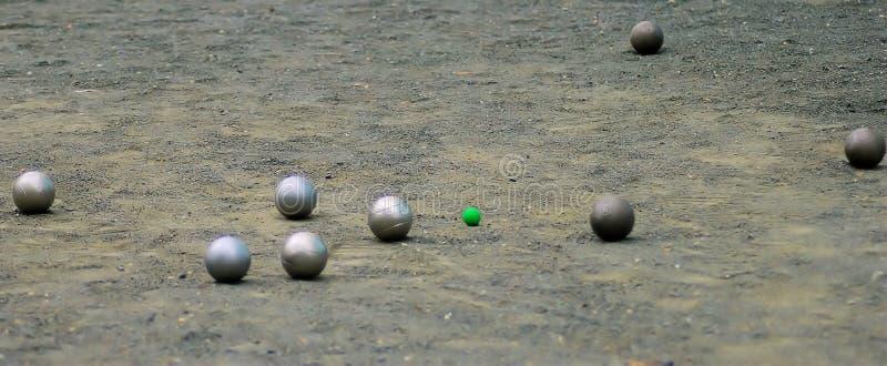 Petanque bollar royaltyfri foto