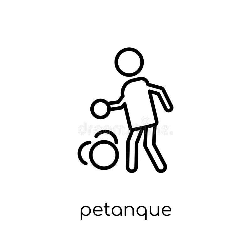 Petanquepictogram In modern vlak lineair vectorpetanque-pictogram  stock illustratie