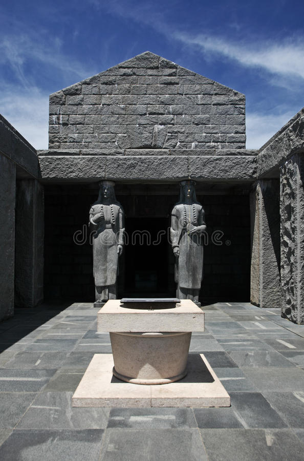 Petar在Lovcen Nati的Petrovic Njegos陵墓, 图库摄影