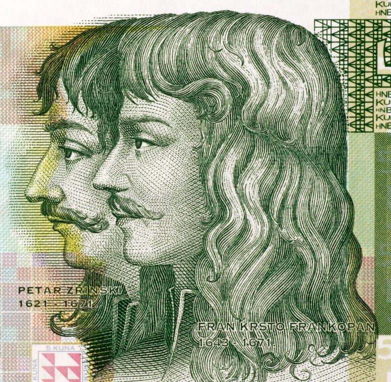 Petar Zrinski och Fran Krsto Frankopan arkivfoto
