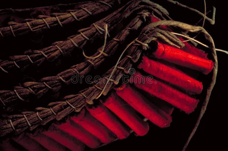 Petardos rojos minúsculos imagen de archivo