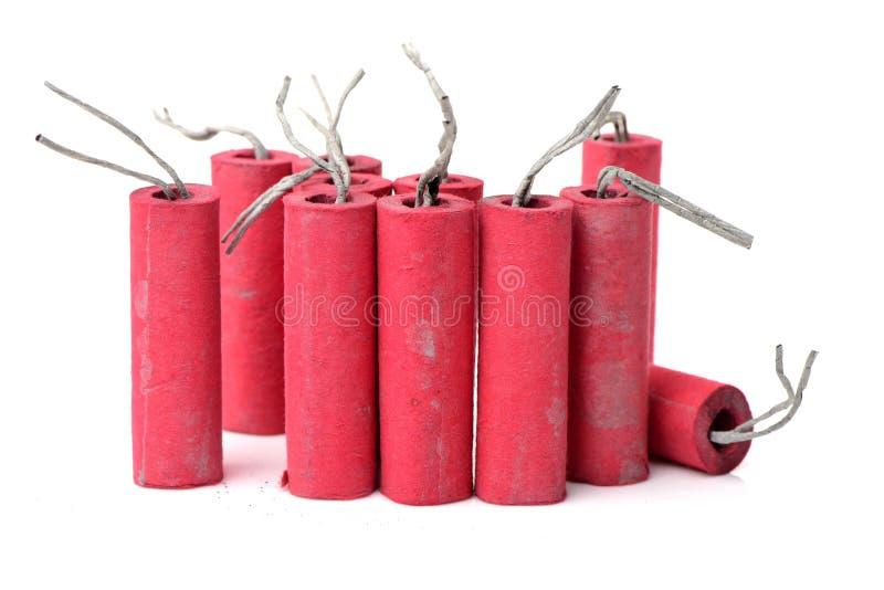 petardy czerwone obraz stock