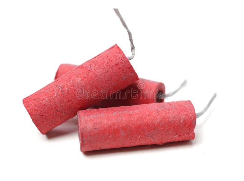petardy czerwone zdjęcia stock