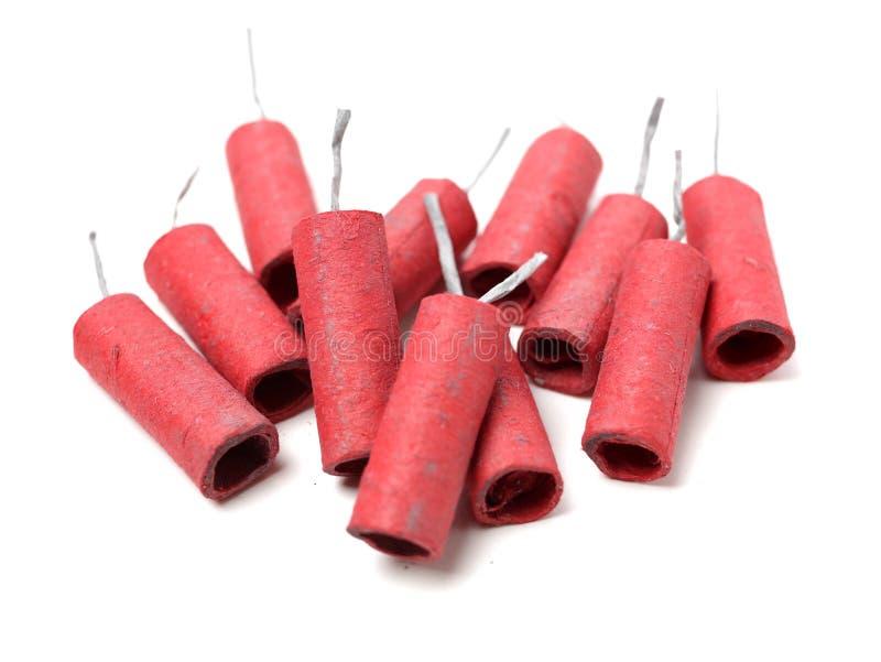 petardy czerwone zdjęcie stock