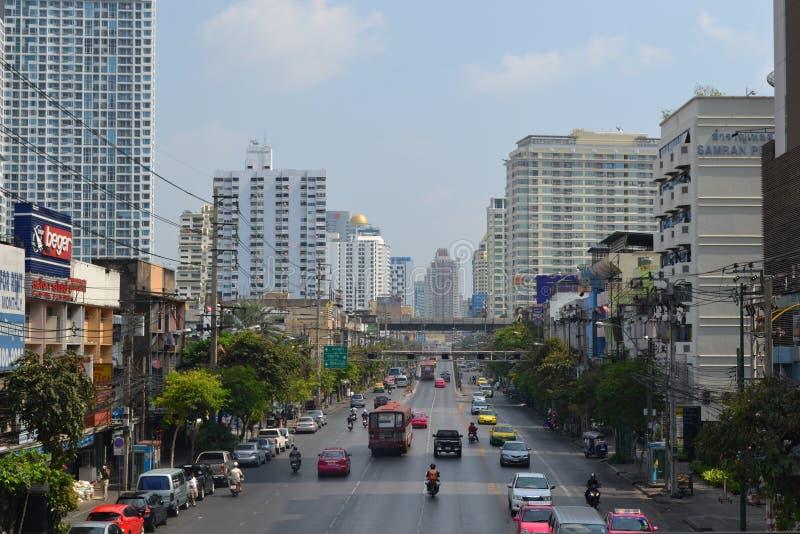 Petchaburi areal bangkok royalty free stock photo