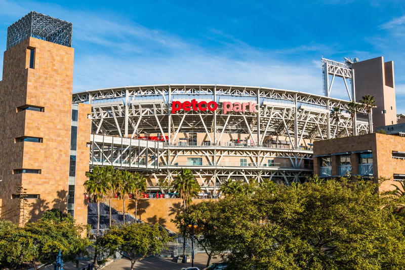 Petco Park Baseball Stadium, Home of San Diego Padres royalty free stock photo