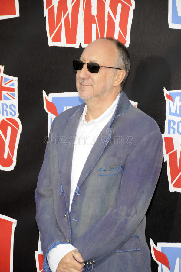 Pete Townshend en la alfombra roja. imagenes de archivo
