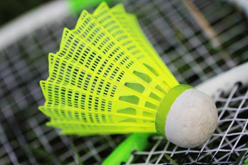 Peteca para o jogo do badminton fotografia de stock royalty free