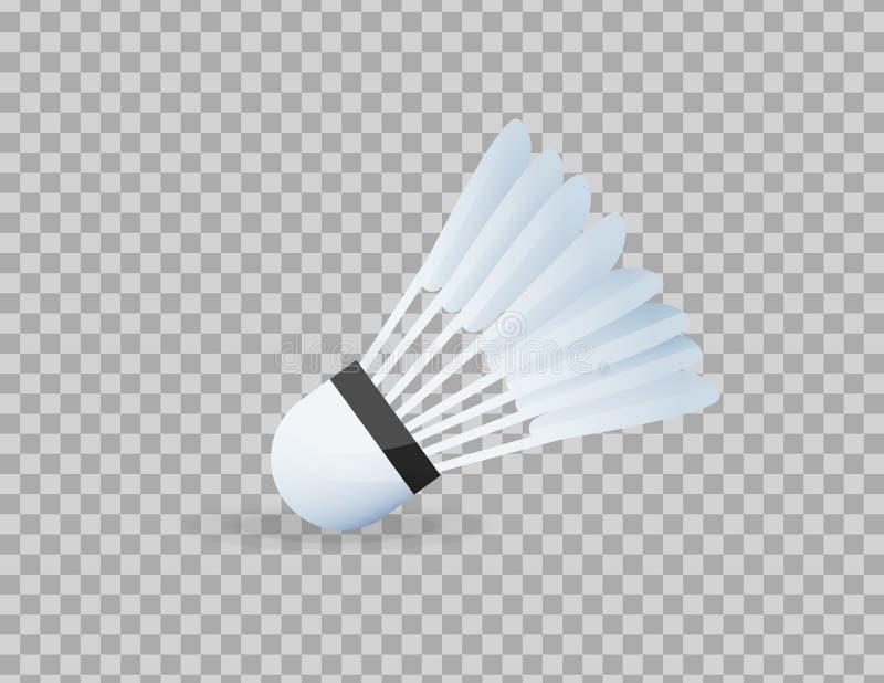 Peteca realística para o tênis grande, badminton, close-up Material desportivo, competições ilustração stock
