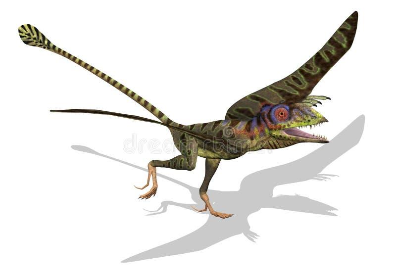 Peteinosaurus listo para volar stock de ilustración