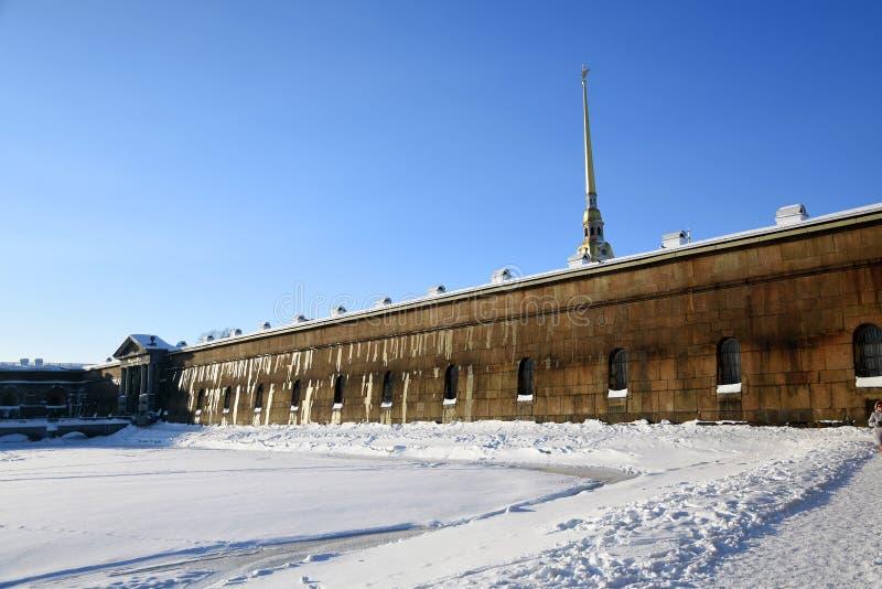 Peter και φρούριο Pauls στην Άγιος-Πετρούπολη, Ρωσία στοκ εικόνα με δικαίωμα ελεύθερης χρήσης