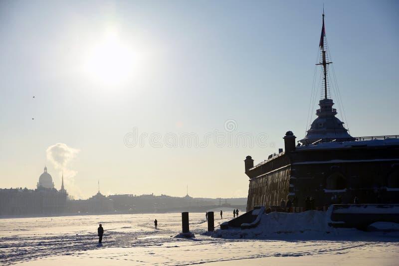 Peter και φρούριο Pauls στην Άγιος-Πετρούπολη, Ρωσία στοκ εικόνα