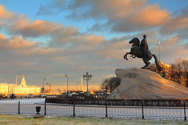 Peter 1 Monumento En St Petersburg Imágenes de archivo libres de regalías