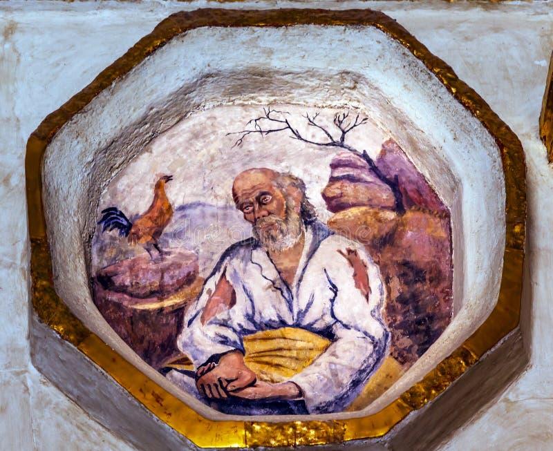 Peter Denying Fresco Sanctuary de Jesus Atotonilco Mexico fotos de stock royalty free