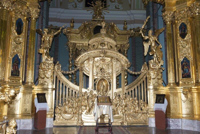 Peter e Paul Cathedral internos, St Petersburg imagem de stock royalty free