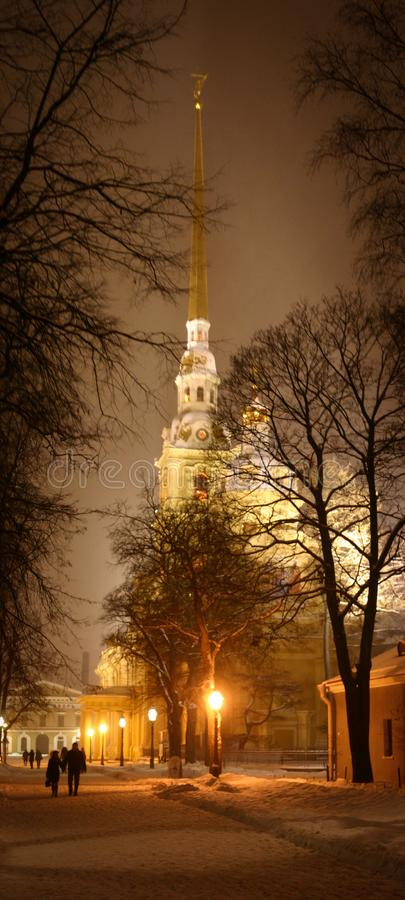 Peter e Paul Cathedral a St Petersburg immagini stock